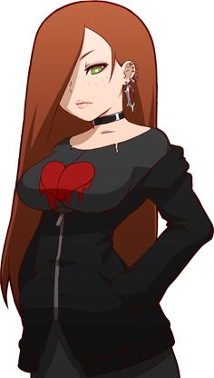 alternate costume breasts brown hair choker ear piercing earrings freckles gravity falls green eyes hair over one eye hands in pockets heart jewelry large breasts long hair makeup mike inel piercing pink lips solo torn clothes transparent background Chica Anime Manga, Thicc Anime, Fanarts Anime, Reverse Gravity Falls, Gravity Falls Au, Girl Cartoon, Cartoon Art, Mike Inel, Character Inspiration