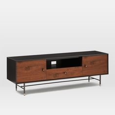 Modernist Wood + Lacquer Media Console