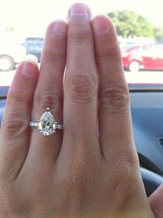 pear engagement rings.. classic and elegant but entirely unexpected