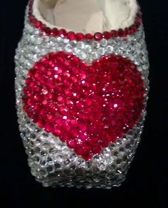 What better way to get in the mood for Valentine's Day than a rhinestone covered heart pointe shoe!?