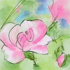 Pink Rose - Flowerly Abstracts - Square Art - Wall Art Prints - Digital Downloadable Prints #pink #green #roses #square Printing Services, Online Printing, Wall Art Prints, Fine Art Prints, Square Art, Types Of Printer, Aurora Sleeping Beauty, Abstract, Digital