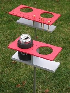 Cornhole score board and drink holder Backyard Games, Backyard Projects, Outdoor Games, Outdoor Projects, Wood Projects, Woodworking Projects, Projects To Try, Outdoor Fun, Outdoor Crafts