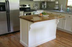 DIY Kitchen Island...  Love it.