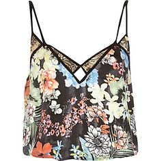 Black Pacha floral print cami top £20.00