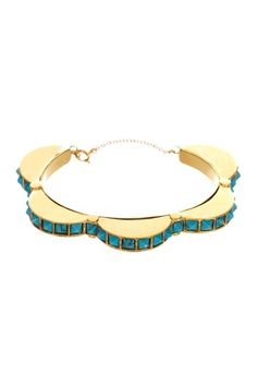 MiMi by Sorrelli  Rounded Turquoise Cuff