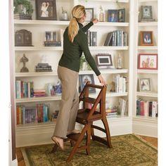 The Benjamin Franklin Library Ladder Chair - Hammacher Schlemmer