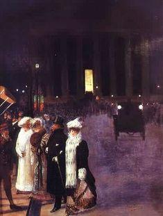 Georges Béraud - Rue Royale Devant Chez Maxims,1900  Jean-