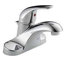 Bathroom Faucets DIY | Delta Foundations 4 in Centerset SingleHandle ProPak Bathroom Faucet in Chrome 2Pack * Check this awesome product by going to the link at the image. Note:It is Affiliate Link to Amazon.