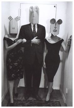 A collaboration between the artist Saul Steinberg and the photographer Inge Morath, taken in the late 1950s and early 1960s    [::SemAp::]