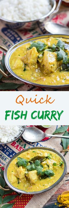 This Quick Fish Curry is simple to rustle up for dinner after a busy day. The curry sauce can be made in advance so all you have to do is quickly poach the fish in the curry sauce for a quick dinner.