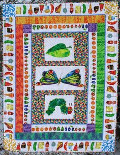 I absolutely LOVE this!!  The Very Hungry Caterpillar Quilt