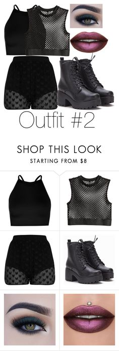 """""""Untitled #104"""" by halissiaelviracra on Polyvore featuring Boohoo and Too Faced Cosmetics"""