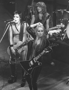 The Runaways (l to r, Joan, Jackie, Lita)