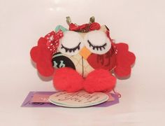 READY TO SHIP Sleeping Owl Plush Wall Hanging by PlushiesTemple
