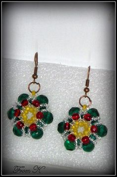 Cute Poinsettia perfect for the Holiday Season, either as a touch to any outfit or as great holiday gifts for friends and family. and made with Czech glass seed beads and glass crystals. About cm in diameter, 3 cm long with the ear piece Ron Beaded Earrings, Drop Earrings, Poinsettia, Czech Glass, Gifts For Friends, Seed Beads, Holiday Gifts, Shops, Community