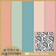 Commercial Use   Free Paisley Papers by DBS DigiScraps