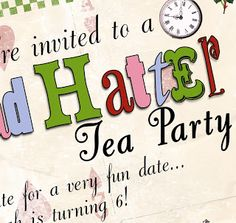 bnute productions: Mad Hatter Tea Party Decoration and Menu Ideas