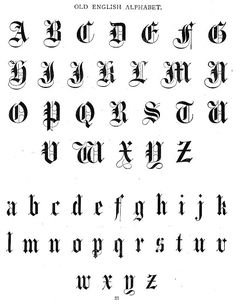Aunt Louisa's First Book for Children - Typography - Old English Font