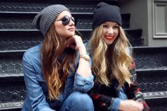 Bad Girl Plaid with beanies for street style fashion