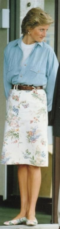 Princess Diana At Cirencester Hospital, June 1990. This Was After Prince Charles Polo Accident.