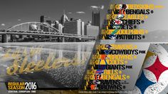 Schedule wallpaper for the Pittsburgh Steelers Regular Season, 2016. All times CET. Made by #tgersdiy