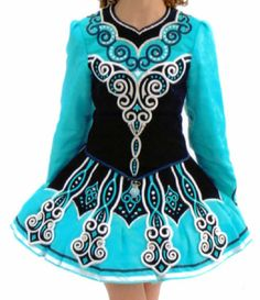 Elevations Design Irish Dance Solo Dress. The baby blue and classic designs have just the right Irish amount of beauty.