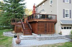 wide stair two tier deck designs | Deck Ideas