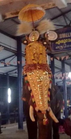 aaraattu ethirelpu-our reigning deity erumely puresan after the holy bath {aaraattu}