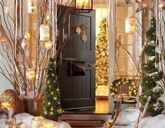 Gold Collection Welomes You in!! Cozy and Rustic Glam with Vintage Envelope Holding MailBox Loving All of the Holiday Cards it Has Been Recieveing~ Soo cute all the little Details in this Display~   #potterybarn