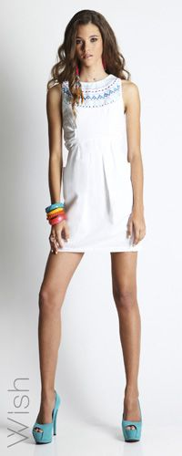 Wish Dynamite Dress - Features Aztec Embroidery Detail