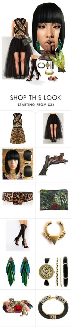 """""""drive you wild"""" by effortless-and-natural ❤ liked on Polyvore featuring Balmain, Nasty Gal, Oscar de la Renta, Forest of Chintz, Daisy Street, Forever 21, Bibi and Kenneth Jay Lane"""