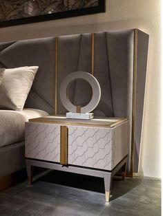 Bedroom Bed Design, Bedroom Furniture Design, Modern Bedroom Design, Luxury Interior Design, Luxury Furniture, Bedroom Decor, Master Bedroom, Dark Wood Bed Frame, Headboard Designs