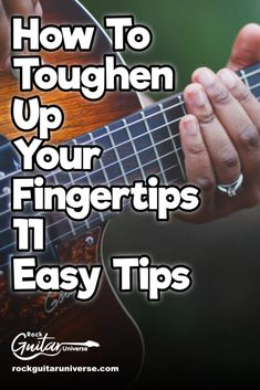 Do you want to toughen your fingertips? Here are 11 easy guitar tips to do so. Learn Guitar Beginner, Guitar Songs For Beginners, Easy Guitar Songs, Guitar Tips, Music Guitar, Playing Guitar, Learning Guitar, Beginner Guitar Lessons, Music Clock