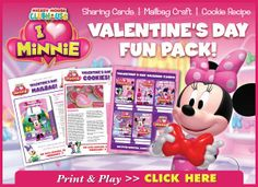 FREE: MICKEY MOUSE CLUBHOUSE: I HEART MINNIE   ACTIVITIES & RECIPE