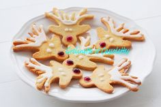 Rudolph The Red Nose Biscuits - Grelinette et Cassolettes Rudolph The Red, Red Nose, Gingerbread Cookies, Biscuits, Desserts, Christmas, Chocolates, Noel, Gingerbread Cupcakes
