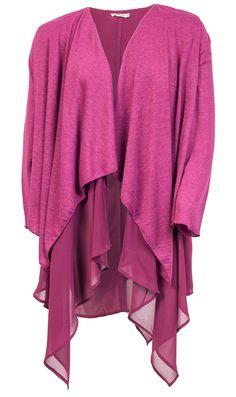 Seje Mørk Pink Lag på Lag Cardigan Gozzip Modetøj til Damer i behageligt materiale