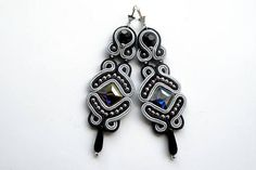 Earrings-Soutache Jewelry-Dark Queen