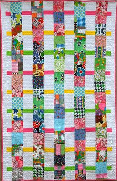 Scrappy Quilt I Front by Miss Sews-It-All, via Flickr