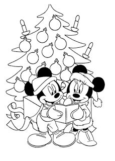 Coloring pages Mickey and Minnie Christmas Coloring Page Pintar Mickey Mouse, Natal Do Mickey Mouse, Mickey Mouse Christmas Tree, Mickey Mouse Crafts, Mickey Mouse Coloring Pages, Disney Coloring Pages, Animal Coloring Pages, Coloring Pages For Kids, Printable Christmas Coloring Pages