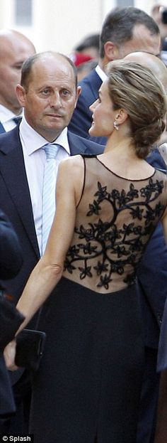 She wore the LBD as she visited the Museo Picasso in the city of Malaga last week...