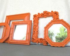 Burnt Orange Mirror Frame