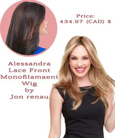Aessandra #Lace Front Monofilament #Wig - jon renau - smart lace Price: 434.97 (CAD) $ http://www.hairandbeautycanada.ca/alessandra-lace-front-wig-canada These long, graduated layers bring modern verve to a classic knockout style. The invisible SmartLace front and monofilament top provide confident styling flexibility. #LaceWigs #LaceWig #HairExtensions #humanhairwigs