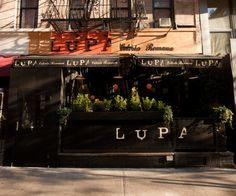 We had lunch here! Lupa is a Roman trattoria south of New York's Washington Square Park. Lupa is owned and operated by Mario Batali and Joe Bastianich.