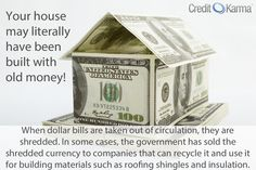 Did you know your house may be made of money?