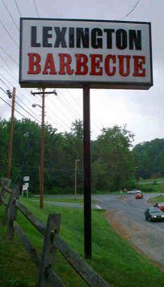 Lexington No. 1 - the best dang barbecue in North Carolina!