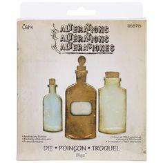 Ellison Sizzix Bigz Die By Tim Holtz 5.5 X6 - Apothecary Bottles