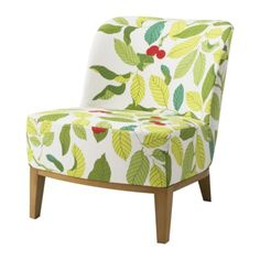 We recently bought a couple of these lovelies to brighten up the den and go with our blue-and-green theme. Then we added a red pillow on each to bring out the red accent on the chairs. Perfecto!
