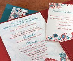 Digital Tanvi wedding invitations. | Invitations by Ajalon | http://www.invitationsbyajalon.com/