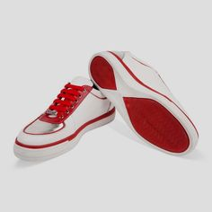 82f9209c111 Men s Red Leather Sneakers. In search of more information on sneakers  Then  simply click