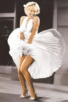 Check out this Marilyn Monroe Seven Year Itch Poster. Features Marilyn in color standing in her iconic pose. Marilyn Monroe Frases, Arte Marilyn Monroe, Marilyn Monroe Poster, Marilyn Monroe Photos, Marylin Monroe Costume, Marilyn Monroe Style, Marilyn Monroe Movies, Hollywood Glamour, Hollywood Stars